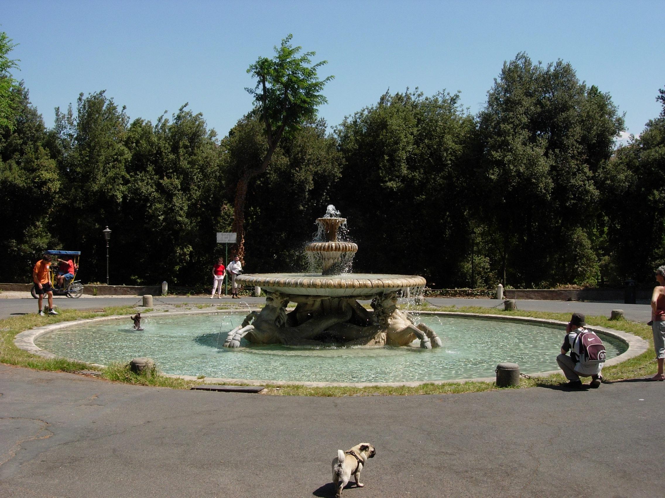Jardins de la Villa Borgh¨se – Fontaine des Chevaux marins