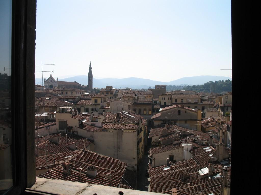 Palazzo vecchio vue d une fen tre sur santa croce for Vue de ma fenetre