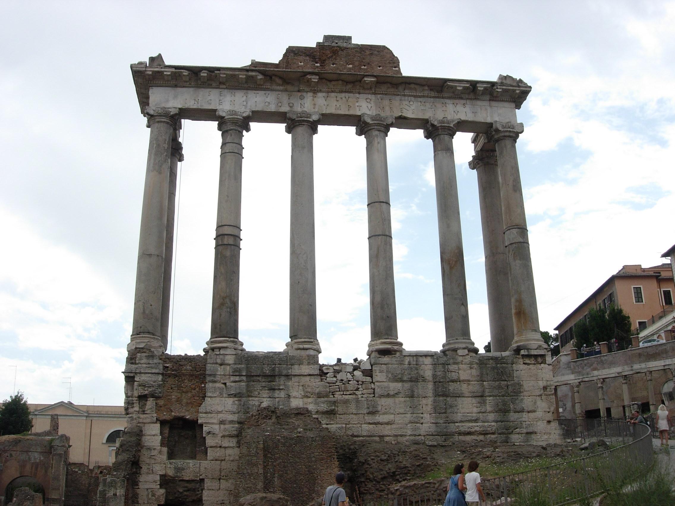 Forum Temple De Saturne Voyages En Italie