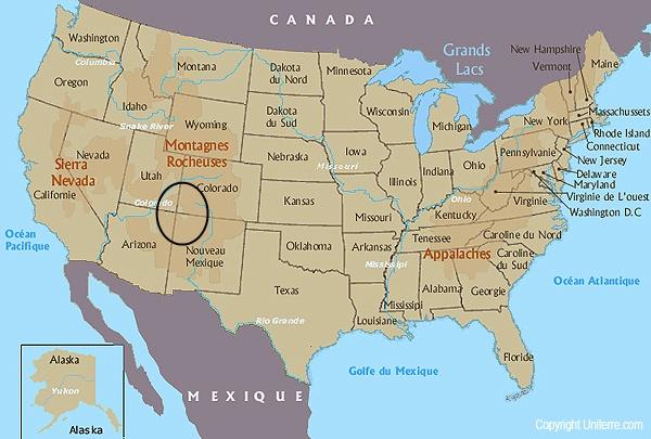 Carte Des Etats Unis Avec Villes Et Etats